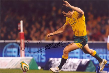 Mike Harris, Australia, signed 12x8 inch photo.